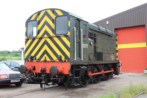Class 10 No. 12077 at Swanwick. 16.06.18
