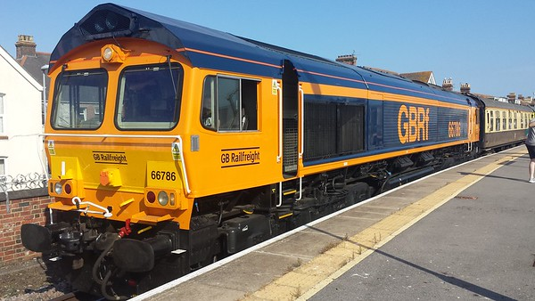 66786 at Weymouth on a GBRf Staff Charter. 30.06.18