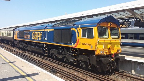 66755 at Weymouth on a GBRf Staff Charter. 30.06.18
