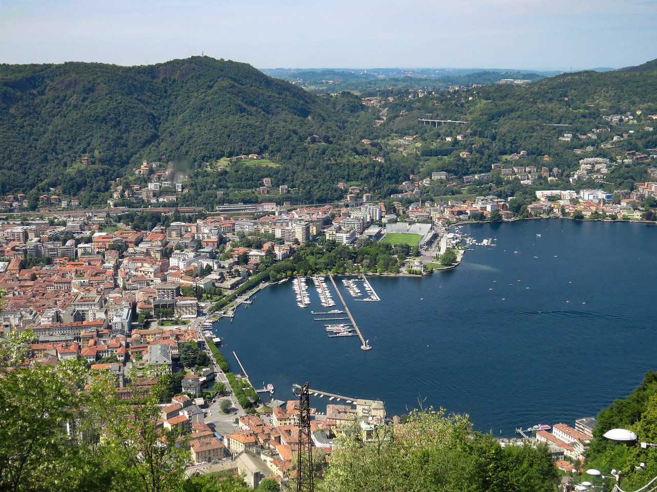 View of Como from the Brunate Funicular