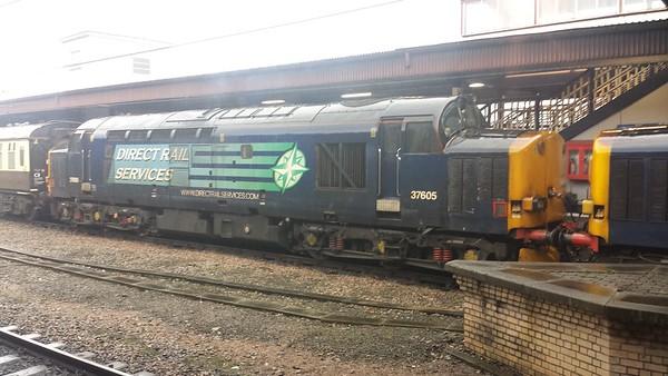 """37605 at York on 1Z67 Pathfinder Tours """"The Easter Highlander"""". 30.03.18"""