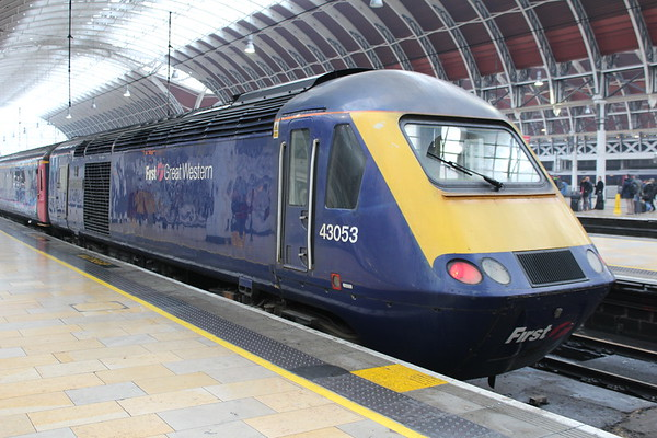43053 at London Paddington on arrival with 1A10 0729 Exeter St Davids - London Paddington. 03.03.18