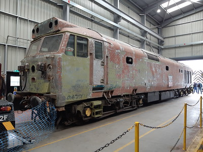 50033 in the diesel shed at Kidderminster. 18.05.19