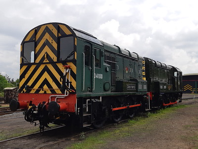 09012 & 08133 on the diesel shed at Kidderminster. 18.05.19