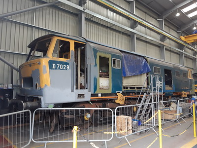 D7029 in the diesel shed at Kidderminster. 18.05.19