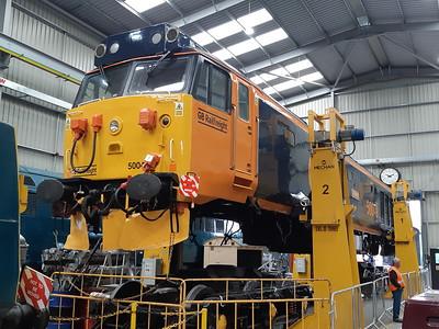 50049 in the diesel shed at Kidderminster. 18.05.19