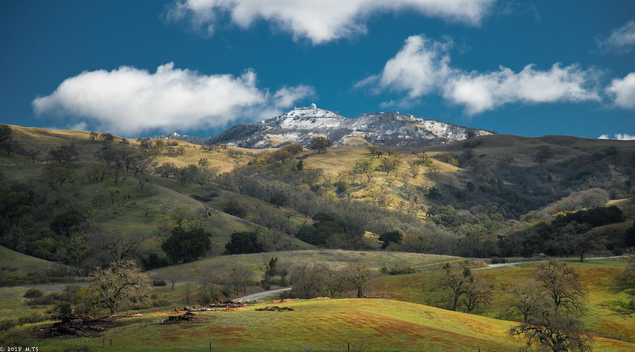 Mount Hamilton in March