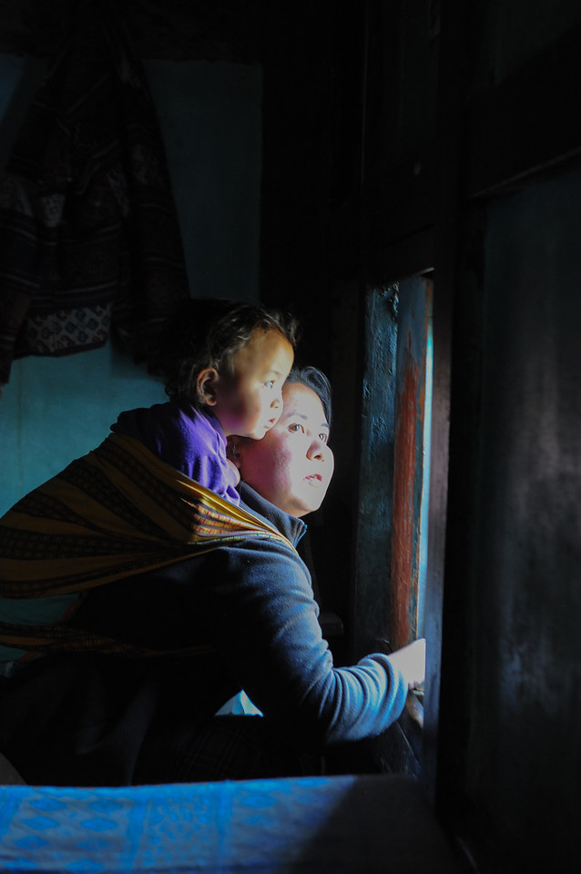 Mother and Child in Window Light