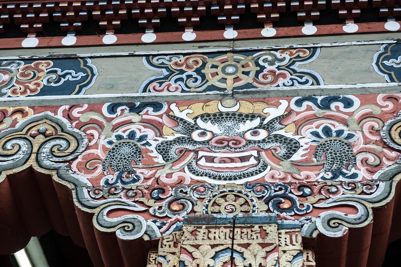 Painted Detail at Thimphu Dzong