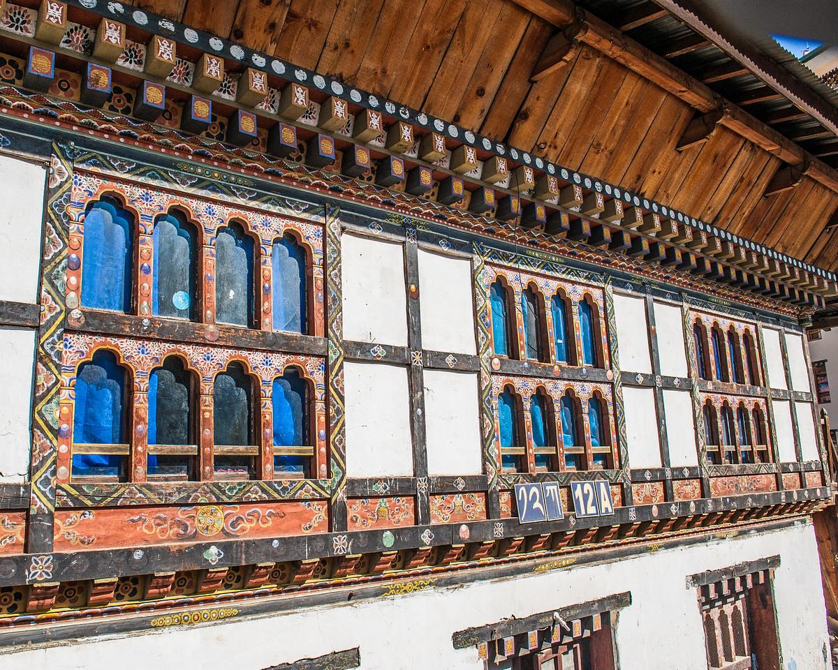 Typical Architectural Detail, Thimphu, Bhutan