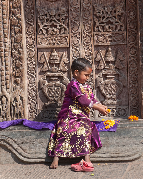 Young Child in Durbar Square, Patan, Kathmandu Valley