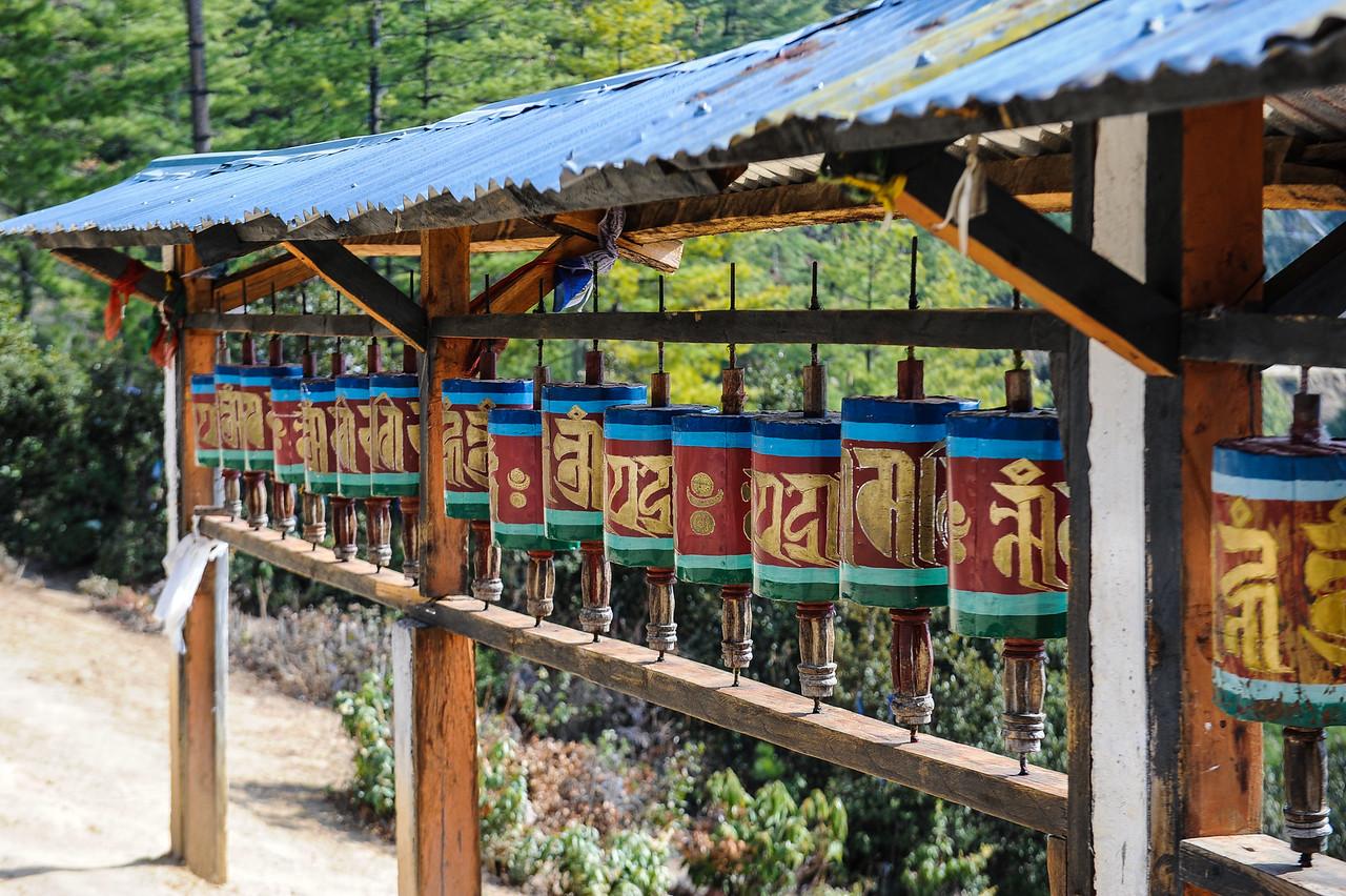 Prayer Wheels on Tiger's Nest Hike