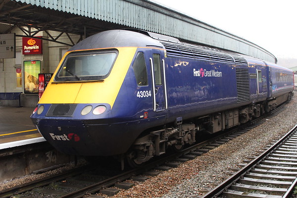 43034 at Bristol Temple Meads on 1A20 1400 to London Paddington. 14.11.17