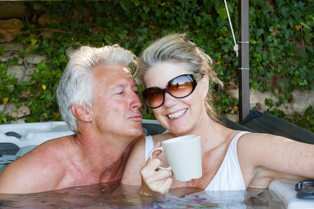 Hot Tubbing at La Clapassina