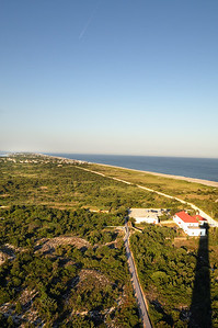 Fire Island -- shadow of the lighthouse.  This is the first time that I have been at the top at this time of day (special tours for friends of the lighthouse).