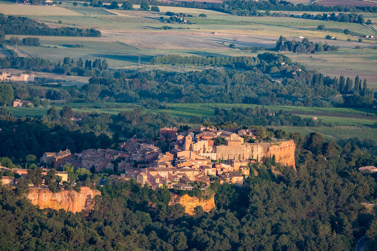 Roussillon from the Hot Air Balloon