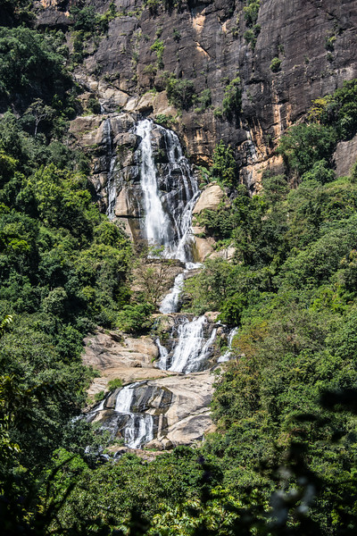 Waterfall on the way to Yala National Park