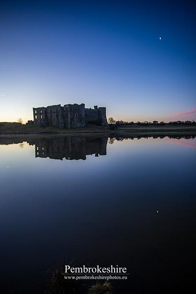 Sunrise, Carew Castle & Tidal Mill.