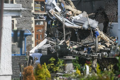 Gas explosion at house, Seven Sisters, Neath, Wales, UK
