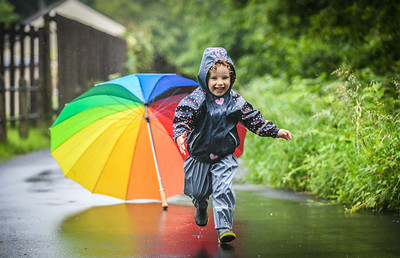 UK Weather : Wet weather, Swansea.