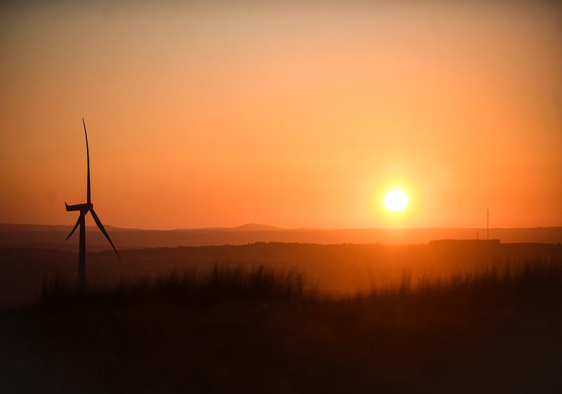 Uk Weather : Sunset, West Wales, UK.