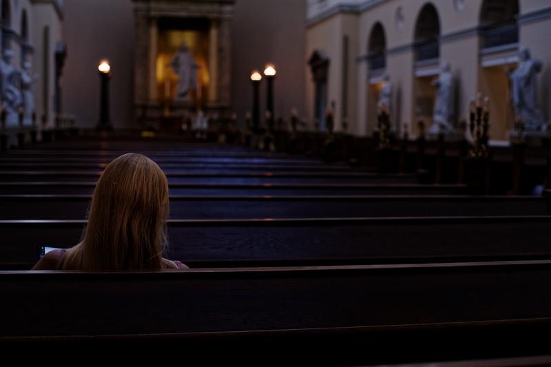 In the church
