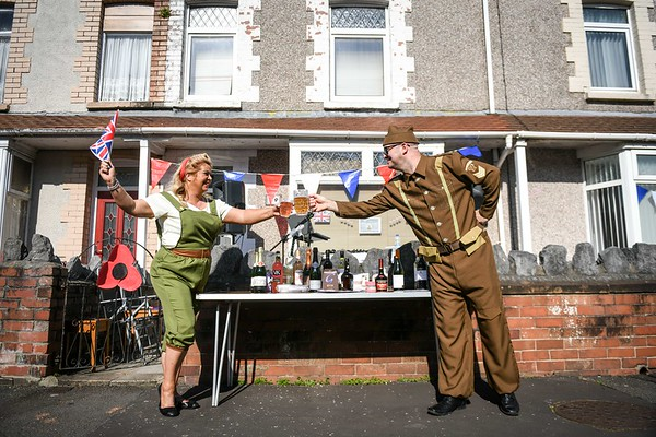VE Day street party, Swansea.
