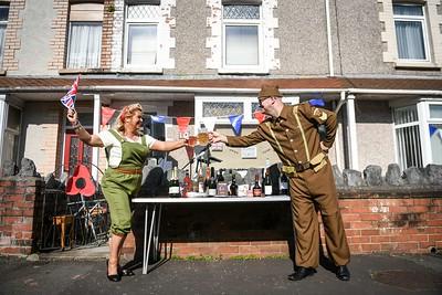 VE Day street party, Swansea.
