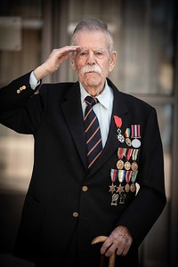 VE Day veteran Cliff Guard, Swansea.