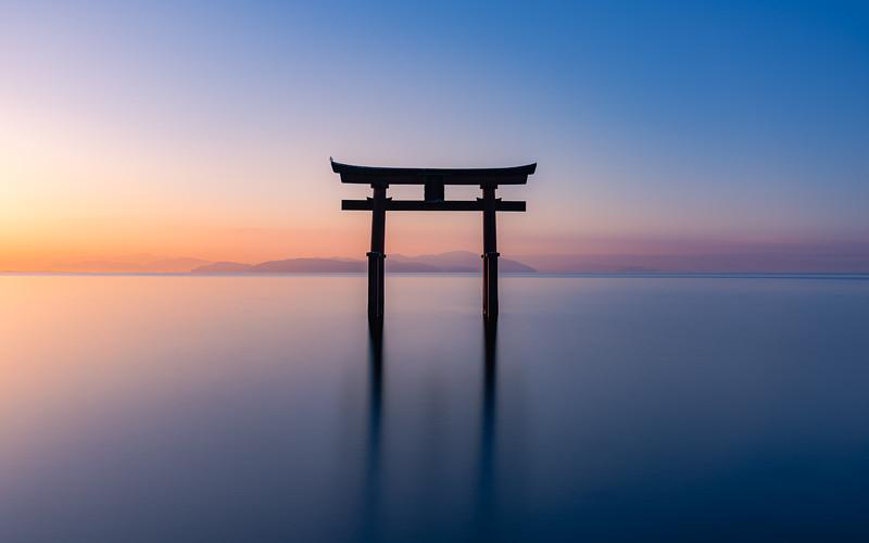🇯🇵⛩ Shirahige Torii   Lake Biwa