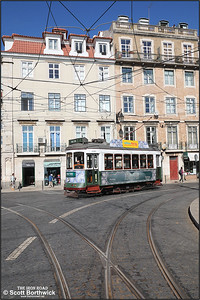 744 passes Corpo Santo with a Lisbon Historical Route Tram Tour on 17/11/2017.