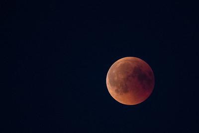 månförmörkelse/blodmåne från Sandön