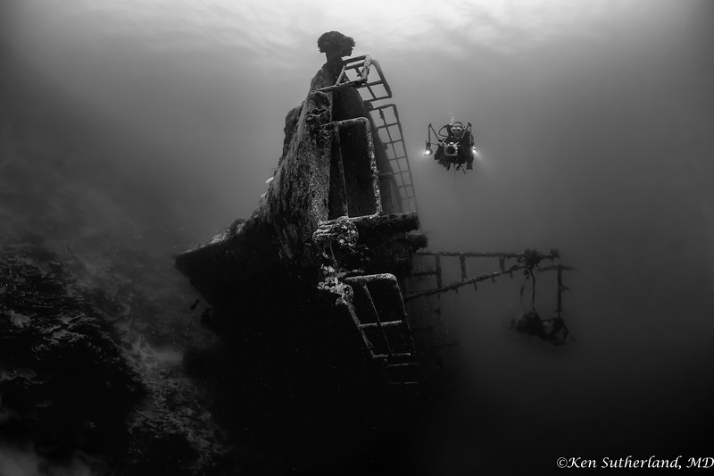 Circus wreck with diver Frank Schneider
