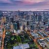Lensaloft high above Melbourne's Carlton Gardens