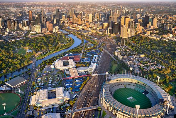 Sunrise over Melbourne Sports Precint