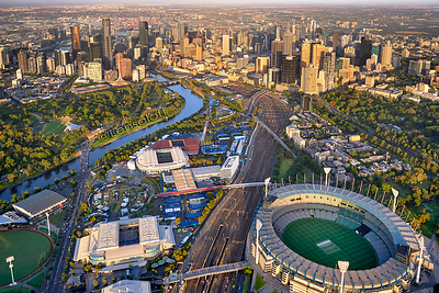 Sunrise over Melbourne Sports Precint