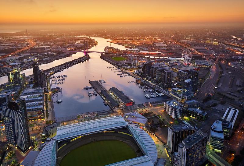Dusk Aerial Phogotraphy - Docklands