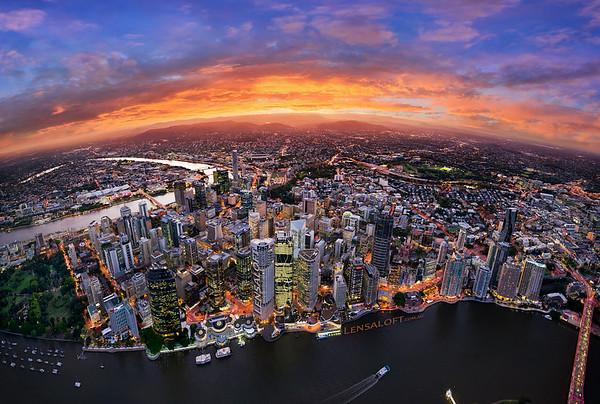 Brisbane Aerial Panorama