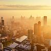 Sunrise over Southbank, Melbourne
