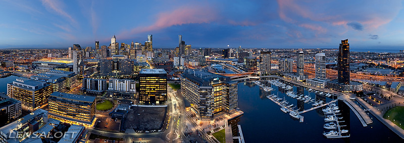 Hovering steady at 500ft the idea was to capture the ANZ building as being connected to the river and CBD, whilst hiding the unsightly wasteland of train lines dividing the two. 2 weeks of planning for 30 minutes of golden light and one amazing high res panorama. <br /> <br /> The image picked up 4 awards at the 2012 Professional Aerial Photographers Conference in the US including 'Aerial Photograph of the year' - 'Peoples Choice' - 'Judges Choice' - 'Best Commercial Aerial Photography'