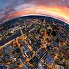 Brisbane CBD Aerial - Sunset