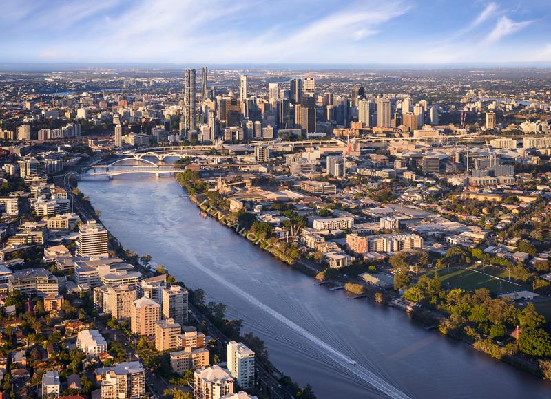 Brisbane Aerial - Kurilpa Riverside