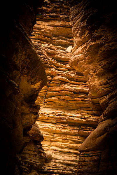 Golden Light<br /> Blacktail Canyon, River Mile 120, Colorado River, Grand Canyon National Park<br /> 2014