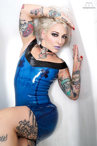 Latex in Blue by Jean