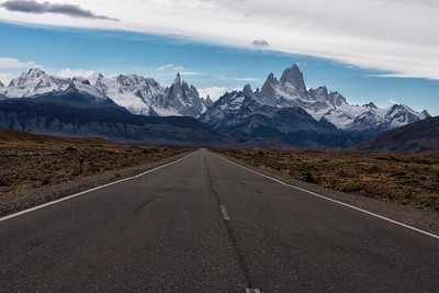 On the Road to the Andes and Fitz Roy chain