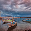 The port at Loreto, Mexico, on a cloudy morning