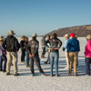 Travelers on the Salitrales salt flats, San Ignacio