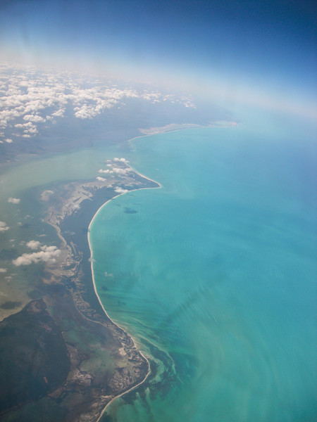 Flying into Belize