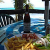 Yummy lunch and a cold beer!