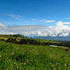 View over the farmland of the Central Valley, Costa Rica